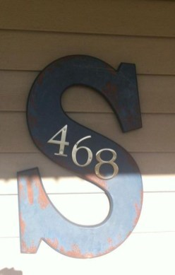 Cool Diy House Number Projects Design Ideas That Looks More Elegant 23