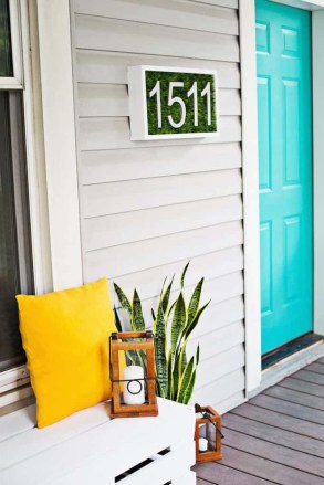 Cool Diy House Number Projects Design Ideas That Looks More Elegant 26