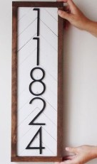 Cool Diy House Number Projects Design Ideas That Looks More Elegant 27
