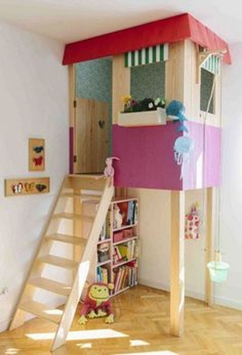 Cute Indoor Playhouses Design Ideas That Suitable For Kids 36