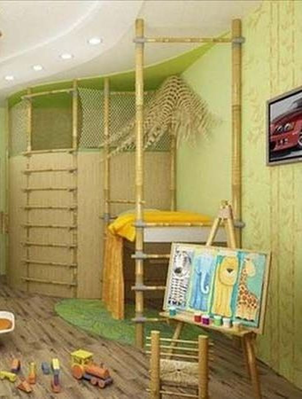 Perfect Kids Room Design Ideas That Suitable For Two Generations 24
