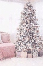 Sophisticated Pink Winter Tree Design Ideas That Looks So Cute 23