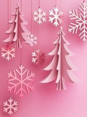 Sophisticated Pink Winter Tree Design Ideas That Looks So Cute 27
