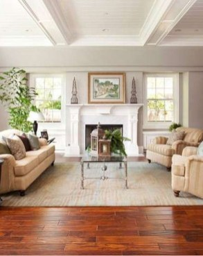 Attractive Living Room Design Ideas With Wood Floor To Try Asap 26