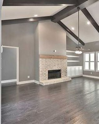 Attractive Living Room Design Ideas With Wood Floor To Try Asap 38