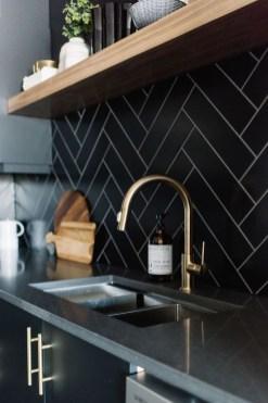 Extraordinary Black Backsplash Kitchen Design Ideas That You Should Try 27