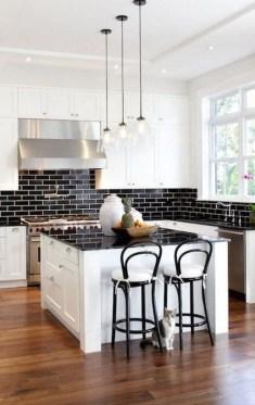 Extraordinary Black Backsplash Kitchen Design Ideas That You Should Try 41