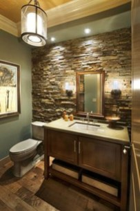 Fabulous Bathroom With Wall Brick Decoration Ideas To Try Asap 05