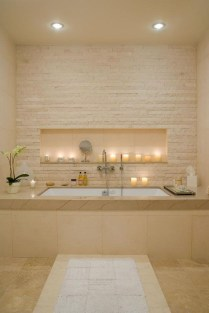 Fabulous Bathroom With Wall Brick Decoration Ideas To Try Asap 19