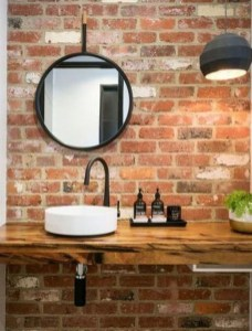 Fabulous Bathroom With Wall Brick Decoration Ideas To Try Asap 20