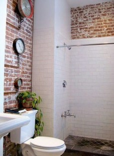 Fabulous Bathroom With Wall Brick Decoration Ideas To Try Asap 23