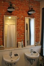 Fabulous Bathroom With Wall Brick Decoration Ideas To Try Asap 24