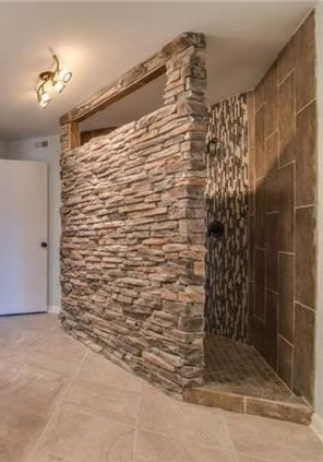 Fabulous Bathroom With Wall Brick Decoration Ideas To Try Asap 26