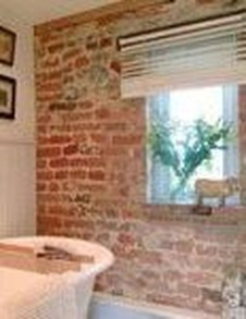 Fabulous Bathroom With Wall Brick Decoration Ideas To Try Asap 31