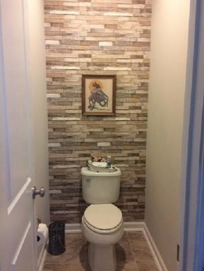 Fabulous Bathroom With Wall Brick Decoration Ideas To Try Asap 35