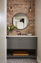 Fabulous Bathroom With Wall Brick Decoration Ideas To Try Asap 37