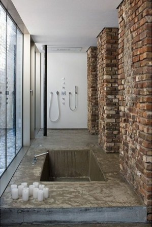 Fabulous Bathroom With Wall Brick Decoration Ideas To Try Asap 48