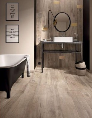 Fancy Wood Bathroom Floor Design Ideas That Will Enhance The Beautiful 16
