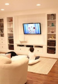 Interesting Living Rooms Design Ideas With Shelving Storage Units 07