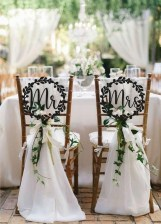Magnificient Outdoor Wedding Chairs Ideas That Suitable For Couple 14