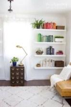 Unique Living Room Floating Shelves Design Ideas For Great Home Organization 09