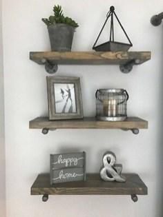 Unique Living Room Floating Shelves Design Ideas For Great Home Organization 14