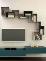 Unique Living Room Floating Shelves Design Ideas For Great Home Organization 22
