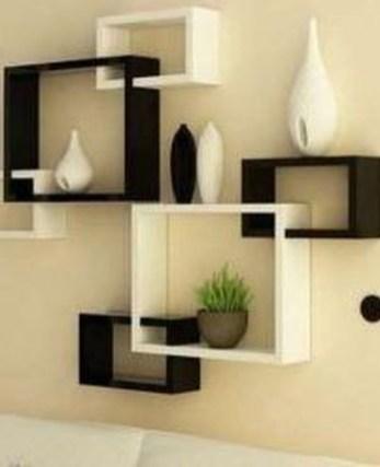 Unique Living Room Floating Shelves Design Ideas For Great Home Organization 26