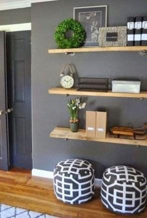 Unique Living Room Floating Shelves Design Ideas For Great Home Organization 34