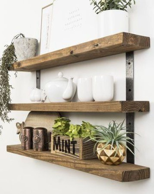 Unique Living Room Floating Shelves Design Ideas For Great Home Organization 37