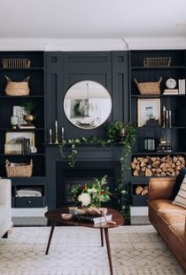 Unusual Black Living Room Design Ideas For More Enchanting 03