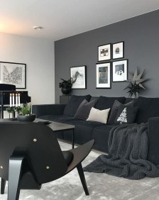 Unusual Black Living Room Design Ideas For More Enchanting 05
