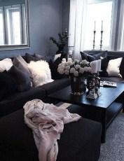 Unusual Black Living Room Design Ideas For More Enchanting 17