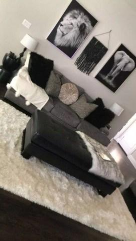 Unusual Black Living Room Design Ideas For More Enchanting 25
