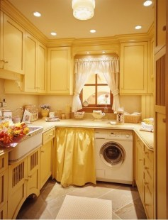 Wonderful Bright Laundry Room Designs Ideas That You Need To Try 20