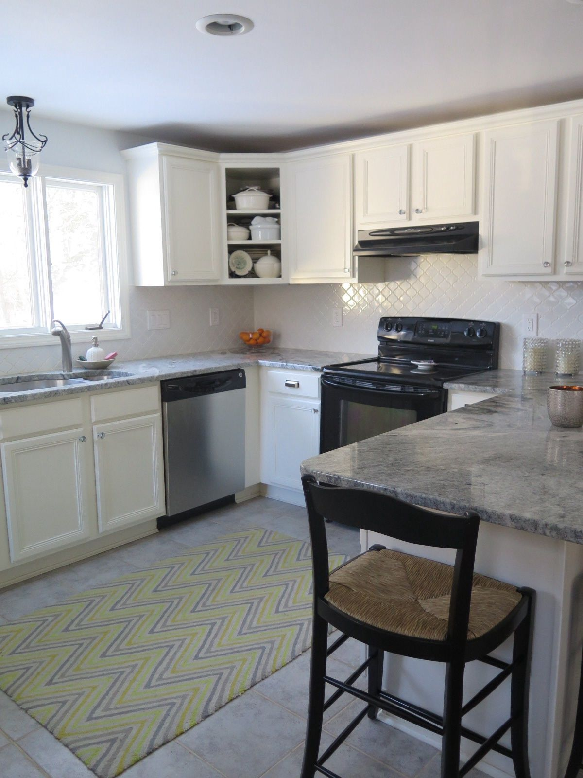 Kitchen Cabinets In White Dove