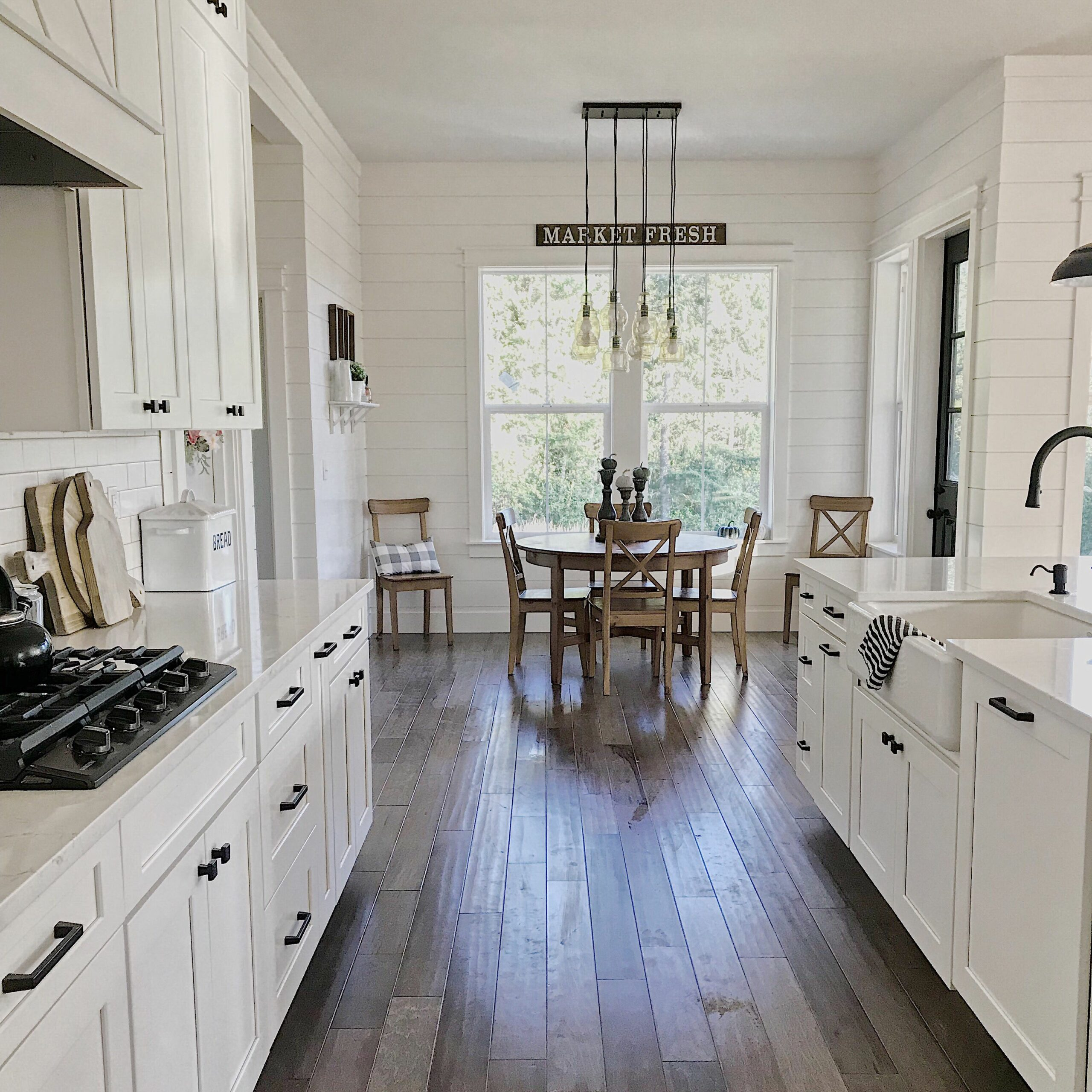 Farmhouse Kitchen With White Shaker Cabinets