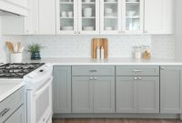 Kitchens With Gray Cabinets And White Countertops