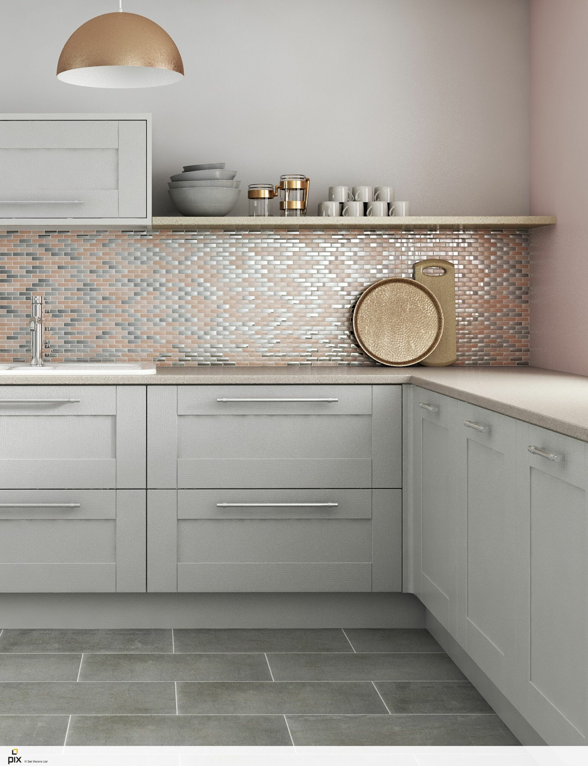 Kitchen Ideas Grey And Pink