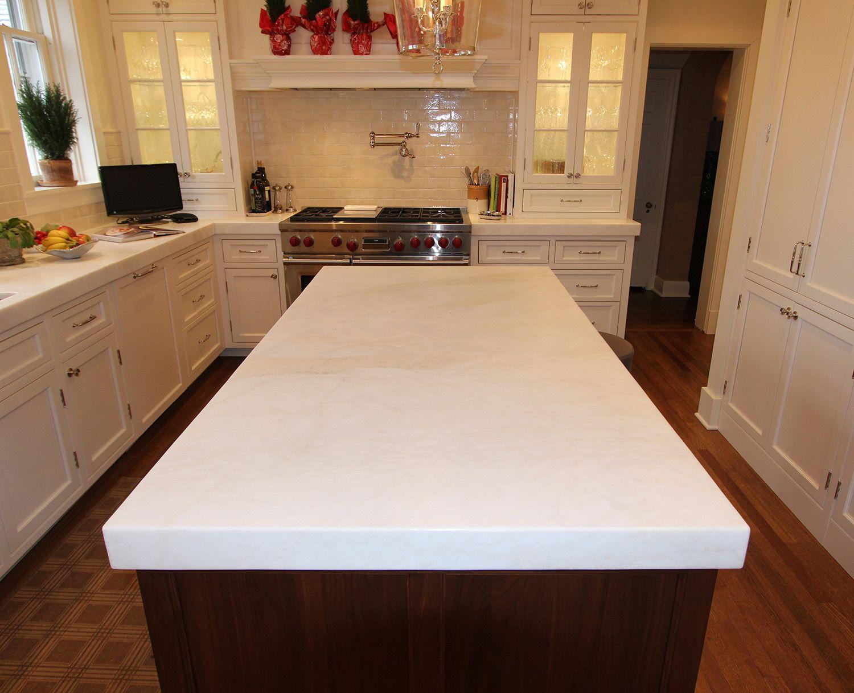 White Kitchen Island With Granite Top
