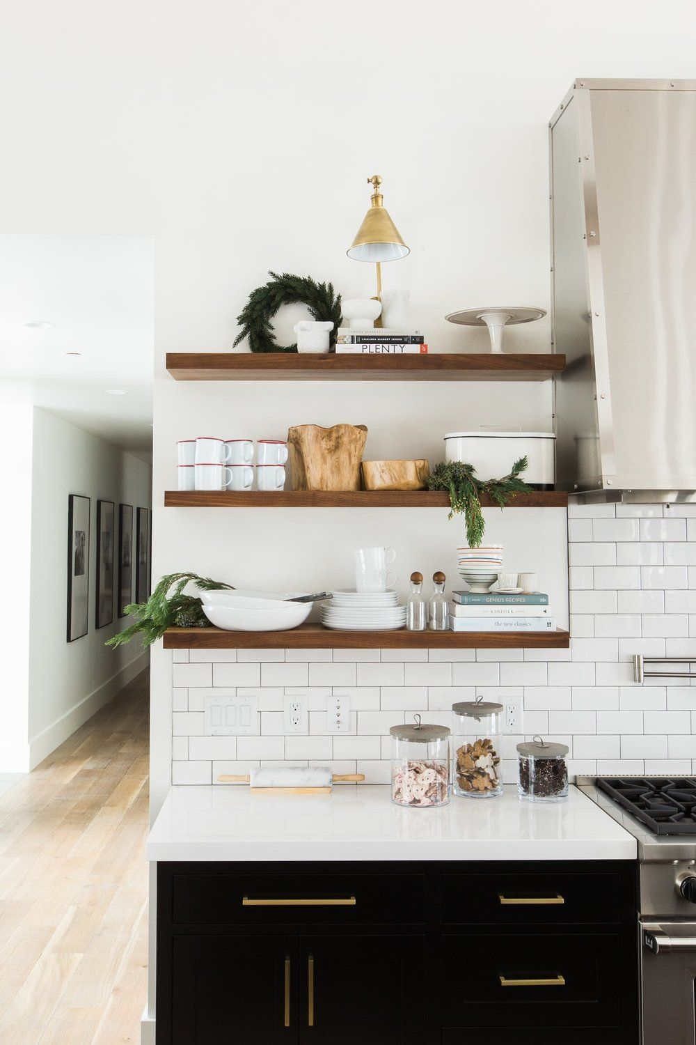 White Open Shelf Kitchen