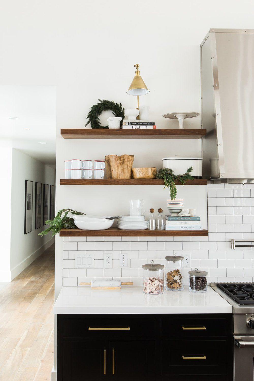 White Open Shelf Kitchen