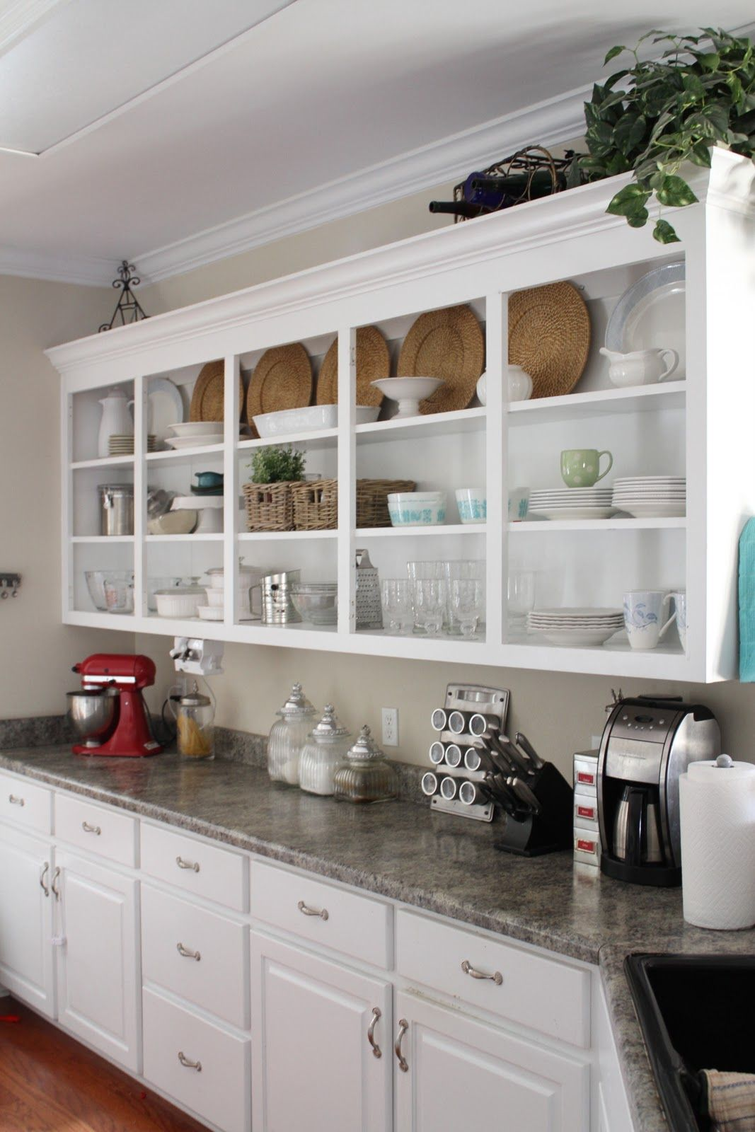 White Kitchen Shelf Organizer