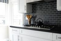 White And Black Kitchen Backsplash Ideas