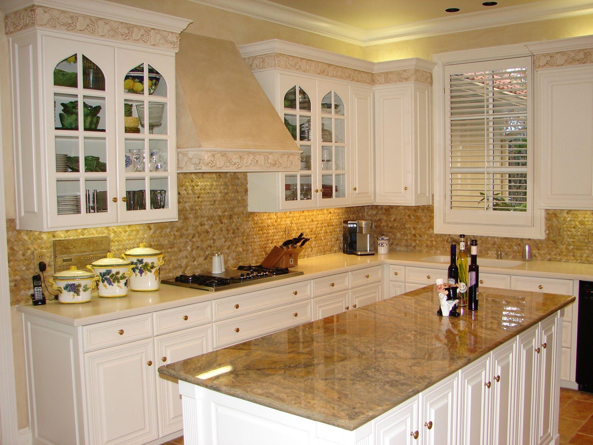 Backsplashes For White Cabinet Kitchens Pictures