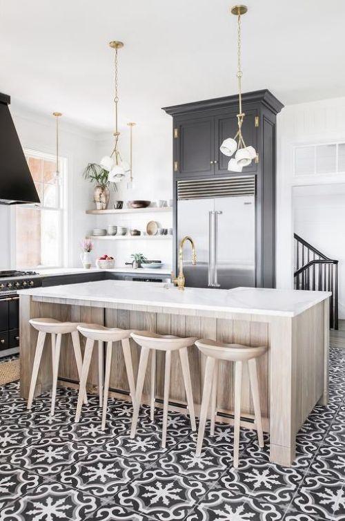 12 Inspiring Modern Farmhouse Designs for the Perfect Kitchen on Farmhouse Tile  id=28911
