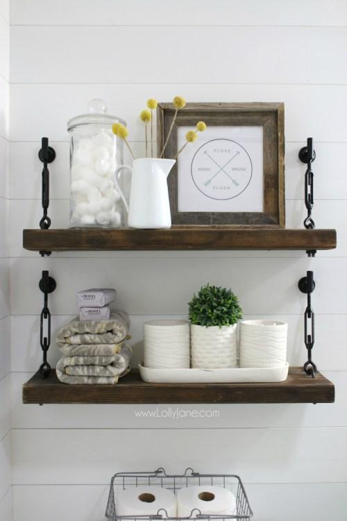 Farmhouse Turn Buckle Shelf DIY
