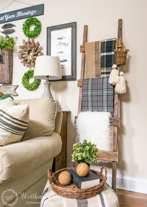 Easy DIY Blanket shelf