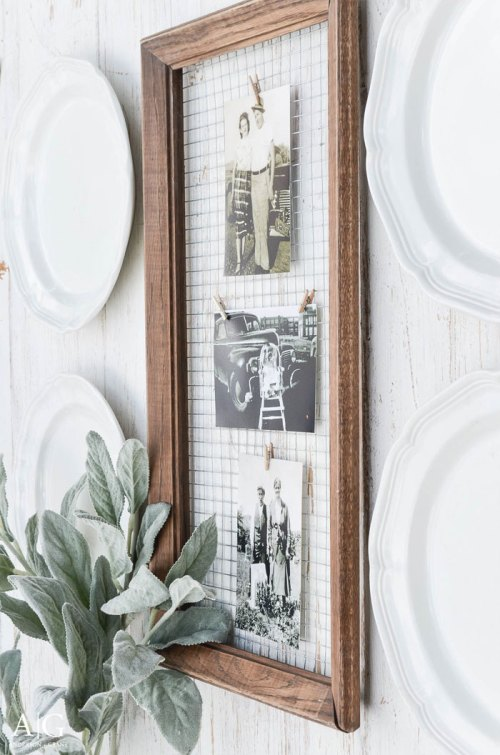 DIY Rustic Farmhouse Picture Frame