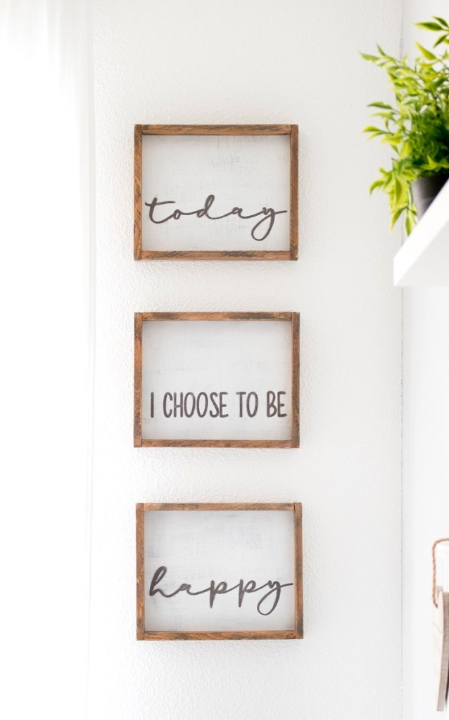 Farmhouse framed sign with a cute quote.